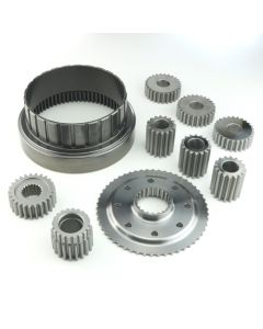 "COA-12787B - ""MAXIMUM DUTY"" STRAIGHT CUT PLANETARY GEARS ONLY, COMPLETE SET W/ HEAT TREATED RING GEAR AND BILLET SPLINED REACTION FLANGE FOR 9 CLUTCH SU..."
