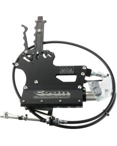 M12-4003BLK - 3 Speed Reverse Pattern Shifter with Air. Black. Includes 5' Cable, Bracket and Lever. Specify TH350 or TH400